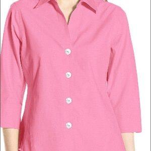 Foxcroft Pink  3/4 sleeve no iron shirt  Sz 18w$49